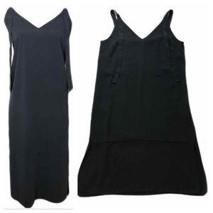 ASOS Black Jumper Dress Shift Size 10